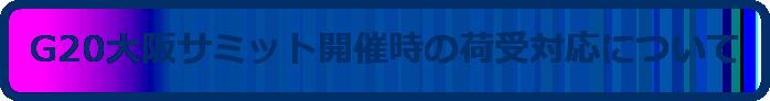 G20大阪サミット開催時の対応について
